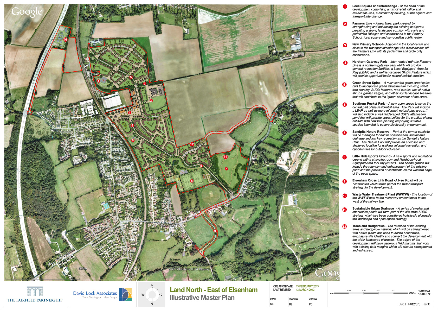 Fairfield Partnership Elsenham site plan